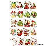 Weihnachtliche Geschenkhänger mit Glitzer, verschiedene Formen/Motive
