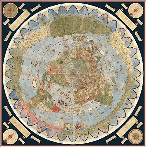 FlatEarthPosters.com Póster Mapa Tierra Monte Urbano