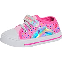 Peppa Pig Canvas Pumps for Girls Trainers Easy Fasten PlimsollsToddlers Shoes