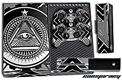 Xbox One Console + Controller Skin - Conspiracy White/Black