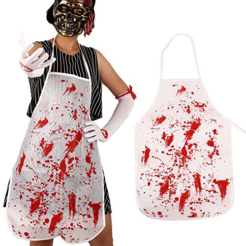 Kicode Halloween Kostüm Furchtsam Schrecklich Metzger Koch Blutig Schürze Party Dekor Fancy Kleid Cosplay Stützen (Metzger Halloween-kostüm)