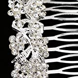 Evalue Elegant Crystal Hair Comb Clip Slide Bride Ladies Girls Accessory Jewelry