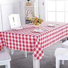 Asvert Manteles de Mesa Antimanchas 140x220cm de Estilo Rústico Resistente a Líquidos de Forma Rectancular para Comedor Bar Jardín y Cocina