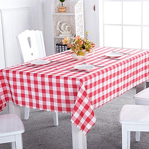 Asvert manteles Antimanchas Rectangular 140 x 220cm de Estilo Rústico para Comedor Cocina Restaurante y Bar, Rojo