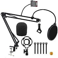 Supporto per Microfono Aceshop 9 in 1 Supporto Microfono Regolabile Professionale Braccio per microfono con Filtro Pop…