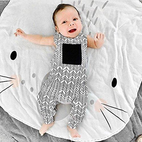 maistore gatear alfombra Lovely diseño de conejo jugando Crawling Mat peluche dormitorio niños habitación decorar juguetes para bebé recién nacido niños manta gris