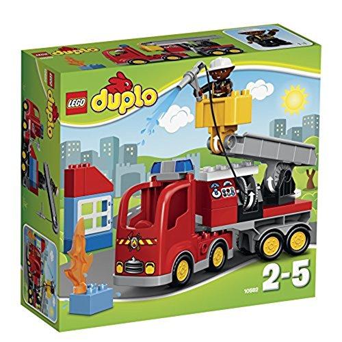 LEGO Duplo 10592 - Löschfahrzeug, Spielzeug für drei Jährige Kinder (Menschen Lego Set)