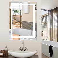 Miroir de Salle de Bains, Miroir de Maquillage de bâti de Mur de LED 5050 avec Le Bouton de Contact Nouveau pour la…