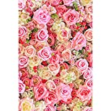 Crazy-Store Valentines Day Flowers Digital Photography Background Cloth Photo Backdrops