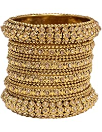 Mansiyaorange Traditional Fancy Designer Casual Party Wedding Wear Original Hand Work One Gram Gold AD Stone Antique...