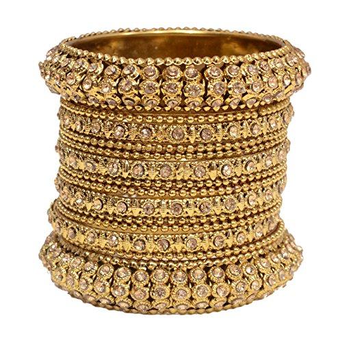 Mansiyaorange Traditional Fancy Designer Party Wedding Wear Original Hand Work Antique Golden Bangle Set For Women Stylish (Premium Quality Range)