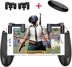 13UNBOX Game Trigger Controller Gamepad /Sensitive Shoot and Aim Fire Buttons L1R1 for PUBG / Knives Out / Mobile Gaming Joysticks for Android iPhone