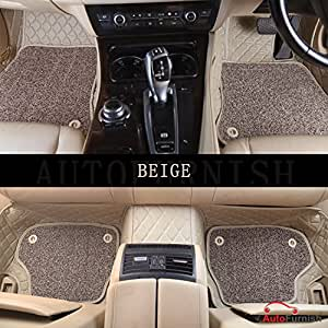 Autofurnish 7D Luxury Custom Fitted Car Mats for Ford Endeavour 2017 - Beige
