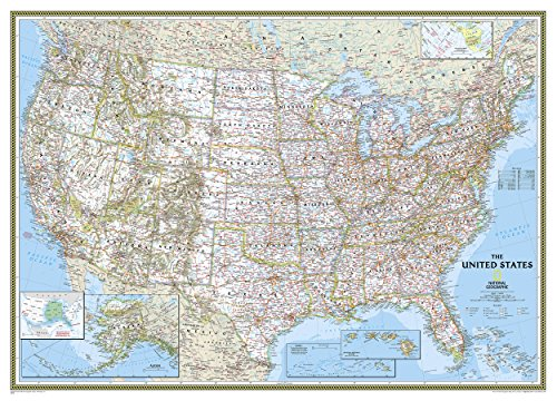 United States Classic, Mural Wall Maps U.S. (Reference - U.S.) par National Geographic Maps