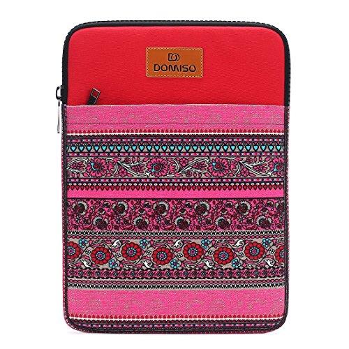 Canvas Laptop Sleeve (DOMISO 14 Zoll Laptop Sleeve Hülle Tasche Canvas Fabric Flower Pattern Abdeckung für 13.5