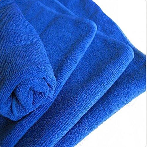 YONGYAO 33x65Cm Colorido Coche Limpieza Lavado Microfibra Toalla-Azul