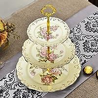 MEICHEN Casa soggiorno sala da pranzo colore creativo frutta vassoio stile ceramica spuntino tre dadi confetteria , style 2