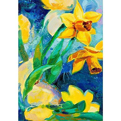 Pitaara Box Beautiful Daffodil Flowers Peel & Stick Vinyl Wall Sticker 16 X 22.9Inch - Daffodil Fine Art