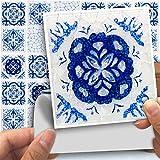 DXHH 18 Stückeblaue Und Weiße Porzellanart Fliesen Aufkleber Dekorative Aufkleber Kreative Rutschfeste Selbstklebende Wandtattoos Floor Sticke
