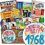 Original seit 1968 | Spezialitätenbox | Geschenkideen | Original seit 1968 | Ostalgie Geschenkset | Geschenke zum 50 Geburtstag Man | GRATIS DDR Kochbuch