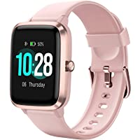 Letsfit Smartwatch, 1.3 inch touchscreen fitness wristwatch, fitness tracker with heart rate monitor, IP68 ...
