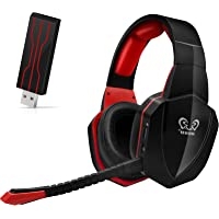 Gaming Headset Wireless Headphone Compatibile con PS4 PC Computer Nintendo Switch – Klarer Ton Over-Ear Cuffie…
