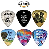 Picks pour guitare avec messages inspirants de Bible Christianisme par neweights