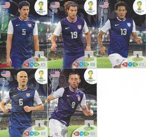 FIFA World Cup 2014 Brazil Adrenalyn XL USA Base Card Team Set -