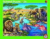 2er-Set Rahmenpuzzle Afrika und Nordpol 24+40 Teile