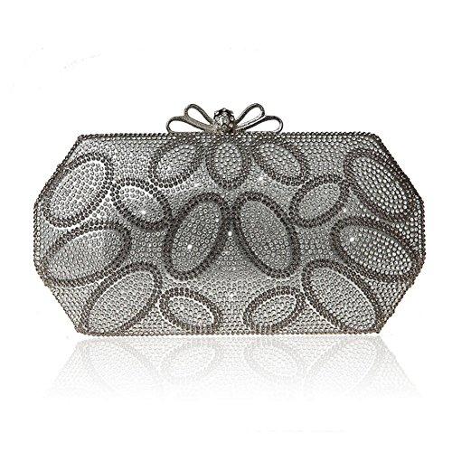 Pacchetto Velcro di Bow tie/Borsa di moda cena/ strass clutch bag-B B