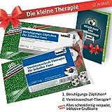 ZÄPFCHEN® Geschenk-Set: 1 - Die Kleine Therapie für S04-FANs | Für Fans mit FC Schalke 04 Tasse, S04 Kaffee-Becher, Handtuch & S04 Fanartikel
