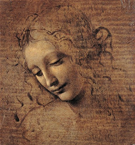 Kunstdruck/Poster: Leonardo da Vinci Frauenkopf – Hochwertiger Druck, Bild, Kunstposter, 50×55 cm