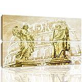 Feeby. Quadro multipannello - 2 parti - 120x80 cm, Immagine da Parete Arte Murale Stampata Quadro Decorativo Stampa Artistica Deco Panel, SCULTURE, ROME, COLOSSEO, MODERNO, MARRONE