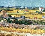 Stampa su Tela Canvas Van Gogh, La Mietitura (1888) 50x70cm Senza Telaio
