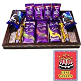 #6: Best wish Chocolate hamper with Wooden Tray