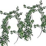 Souarts Eukalyptus Pflanze Künstliche Girlande Kunstpflanze Urlaub Hochzeit Home Dekoration Zubehör 2m