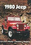 Jeep 1980 Auto CJ-5 CJ-7 Pickup Cherokee Wagoneer Schild aus Blech, metallsign, Tin