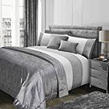 Sienna Luxury Glitter Velvet Sparkle Bedspread Blanket Soft Throw Over, Silver Grey - 150 x 200cm