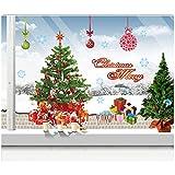 DoTech DIY Weihnachten Wand aufkleber Abnehmbar Weihnachtsmann Wanddeko Weihnachtsbaum Wandtattoo...