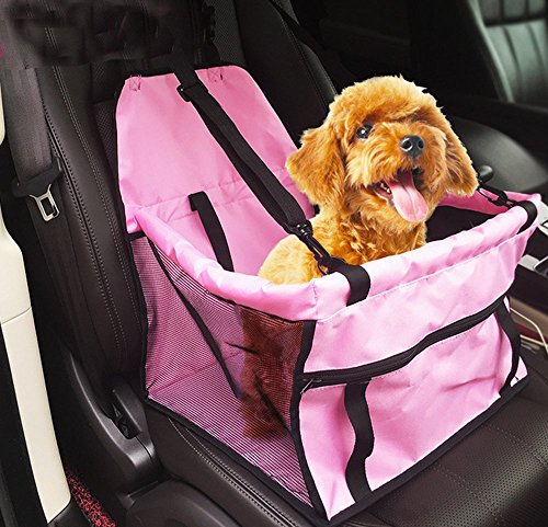 Impermeabile traspirante sede Pet Car Mat cinghia di sicurezza della copertura del ripetitore Bag Pet Carrier viaggio Cuscino da auto per il gatto del cane Pet (Rosa)