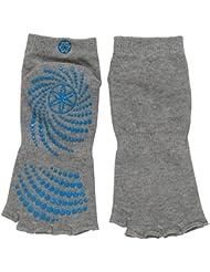 Gaiam Chaussettes de yoga antidérapantes sans orteils
