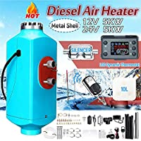 lennonsi Lufterhitzer Diesel, 12V/5kWAir Standheizung,12V Air Standheizung LCD Heizung Diesel mit Ölextraktor und SchallDämpfer für Lieferwagen, LKW