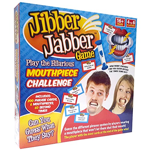Jibber Jabber Party Game Speak Out Game Challenge - UK Edition - Includes Hilarious Mouthpiece
