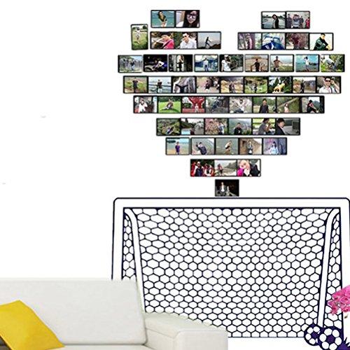 leber, Wandaufkleber Kunst Fußball Fußball Tor Net Ball Sport Home Decor Wandbild Papier Kunst Tapete ()