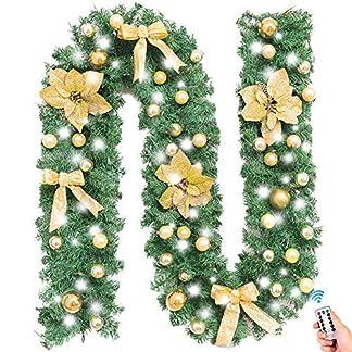 Treer-Weihnachtsgirlande-mit-Beleuchtung-Tannengirlande-Batterie-Remote-8-Modus-Lichterkette-Weihnachten-Dekoration-fr-Innen-und-Auen-Verwendbar