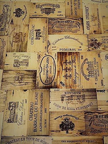 Tovaglia in vinile pvc effetto legno fine vini 2metres (200x 137cm) 6posti dimensioni rettangolo tavolo, facile da pulire, con retro in tessuto plastica tovaglia rettangolare (276)