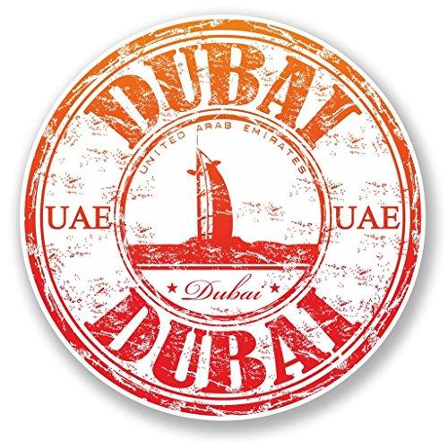 Preisvergleich Produktbild 2x UAE Dubai Vinyl Aufkleber Aufkleber Laptop Reise Gepäck Auto Ipad Schild Fun # 6516 - 10cm/100mm Wide