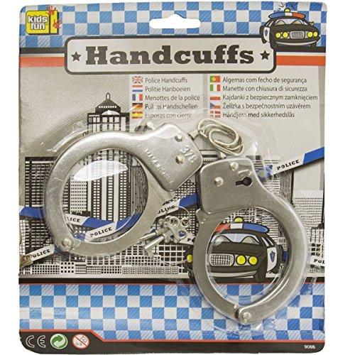 Handschellen Polizei zum Spielen Fasching Karneval Kinder Kostüm (Polizei Kostüm Kind)