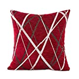 Doublehero Kissenüberzug,Sofa Auto Bett Dekoratives Kreatives Stilvolle Einfachheit Muster Kissenhülle Kissen Home Deko (Rot)