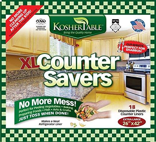 Extra große Einweg Mülltüten 18Stück Kunststoff Küche Zähler Covers für Easy nach Bereinigung Speisen prep- faltbar Vielseitige Küche, protectors- Top Time Savers -